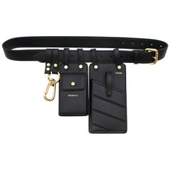 Fendi Black Leather Multi-Tool Belt Bag - New Season One size