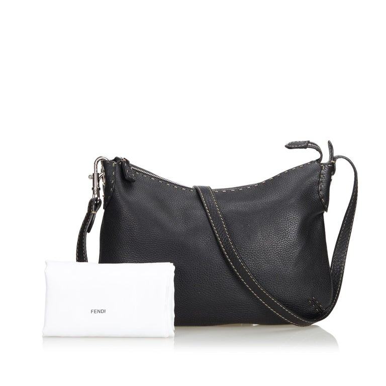 Fendi Black Leather Selleria Crossbody Bag at 1stdibs edc7100c406c4