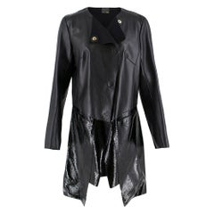 Fendi Black Leather Two Toned Coat IT42