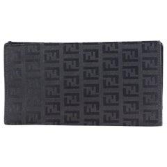 Fendi Black Logo Bill Wallet