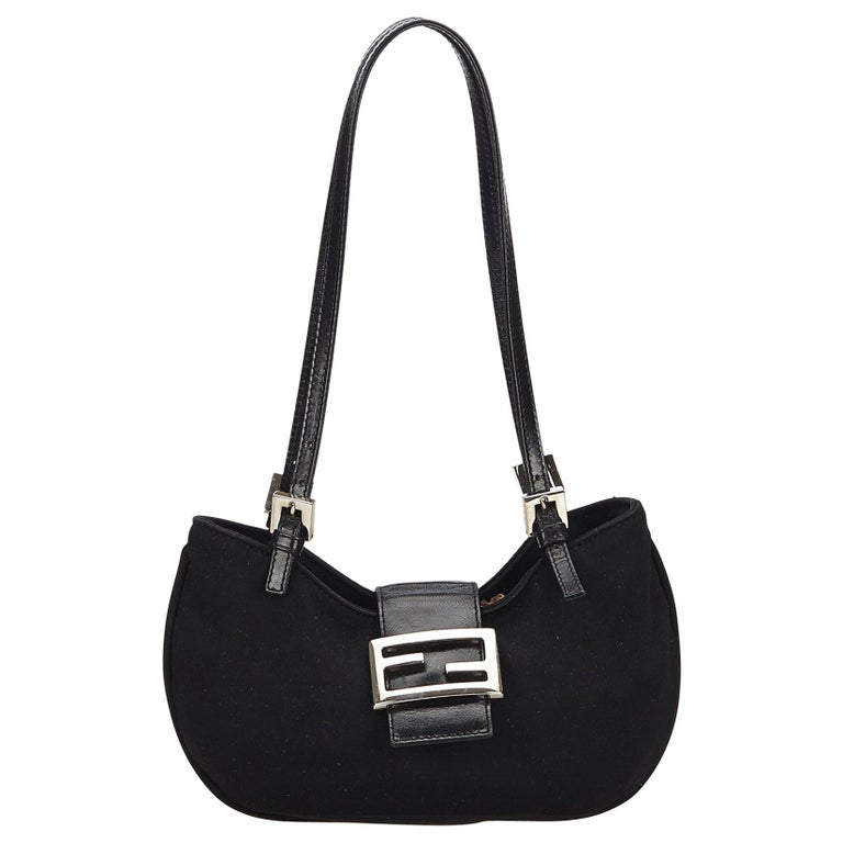 74774340 Fendi Black Mini Nylon Shoulder Bag