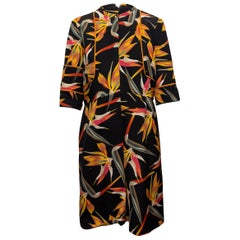 Fendi Black & Multicolor Floral Print Dress
