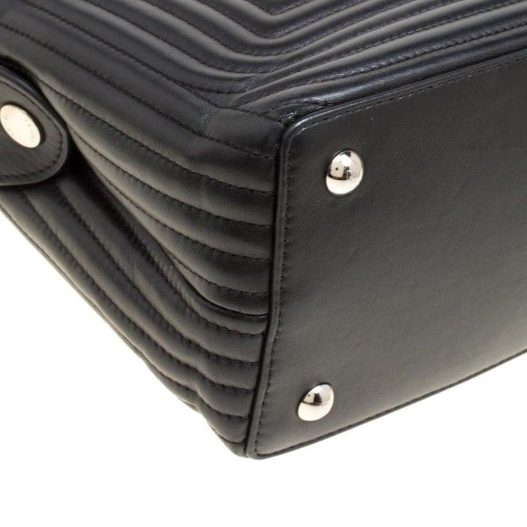Fendi Black Quilted Leather Dotcom Click Shoulder Bag For Sale 7