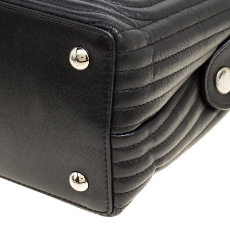 Fendi Black Quilted Leather Dotcom Click Shoulder Bag For Sale 8
