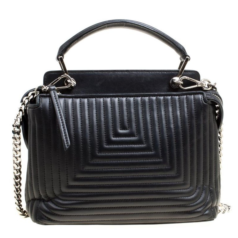 cd9325b722 Fendi Black Quilted Leather Dotcom Click Shoulder Bag For Sale at ...
