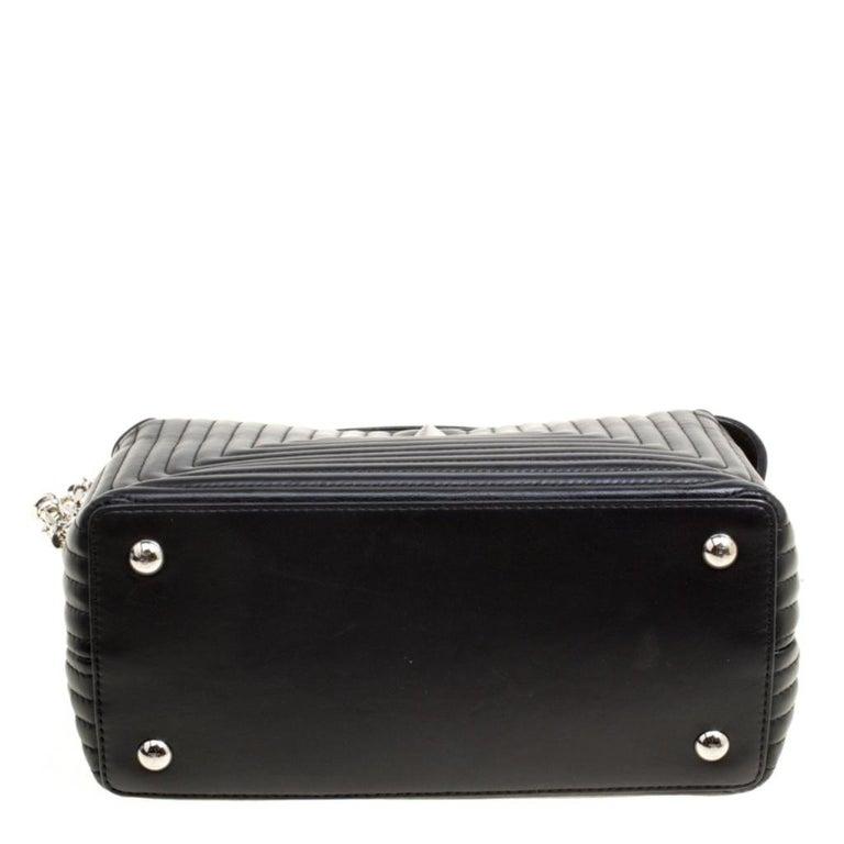 Fendi Black Quilted Leather Dotcom Click Shoulder Bag For Sale 1