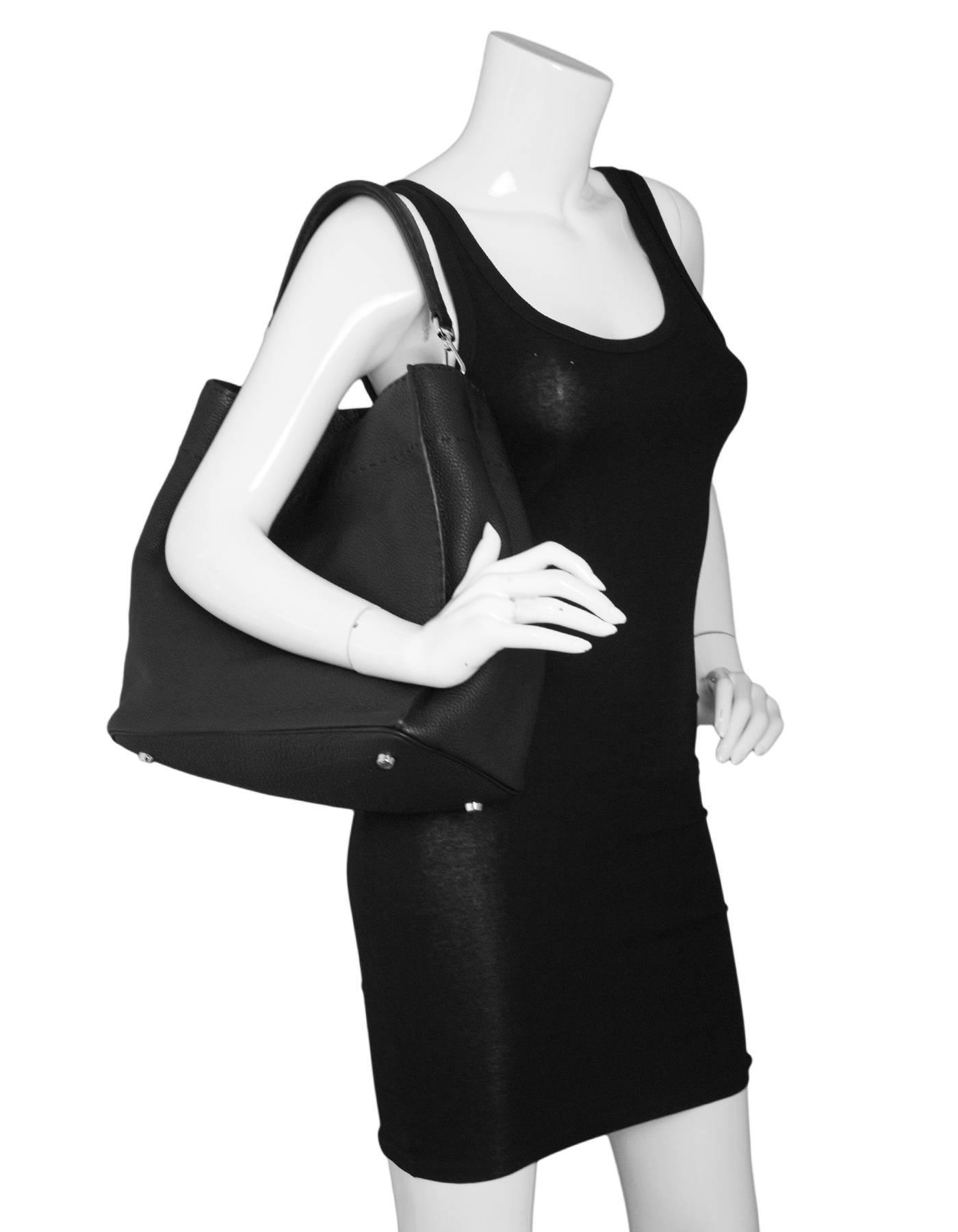 Fendi Black Selleria Leather Anna Hobo Bag W. Strap Rt. $2,950