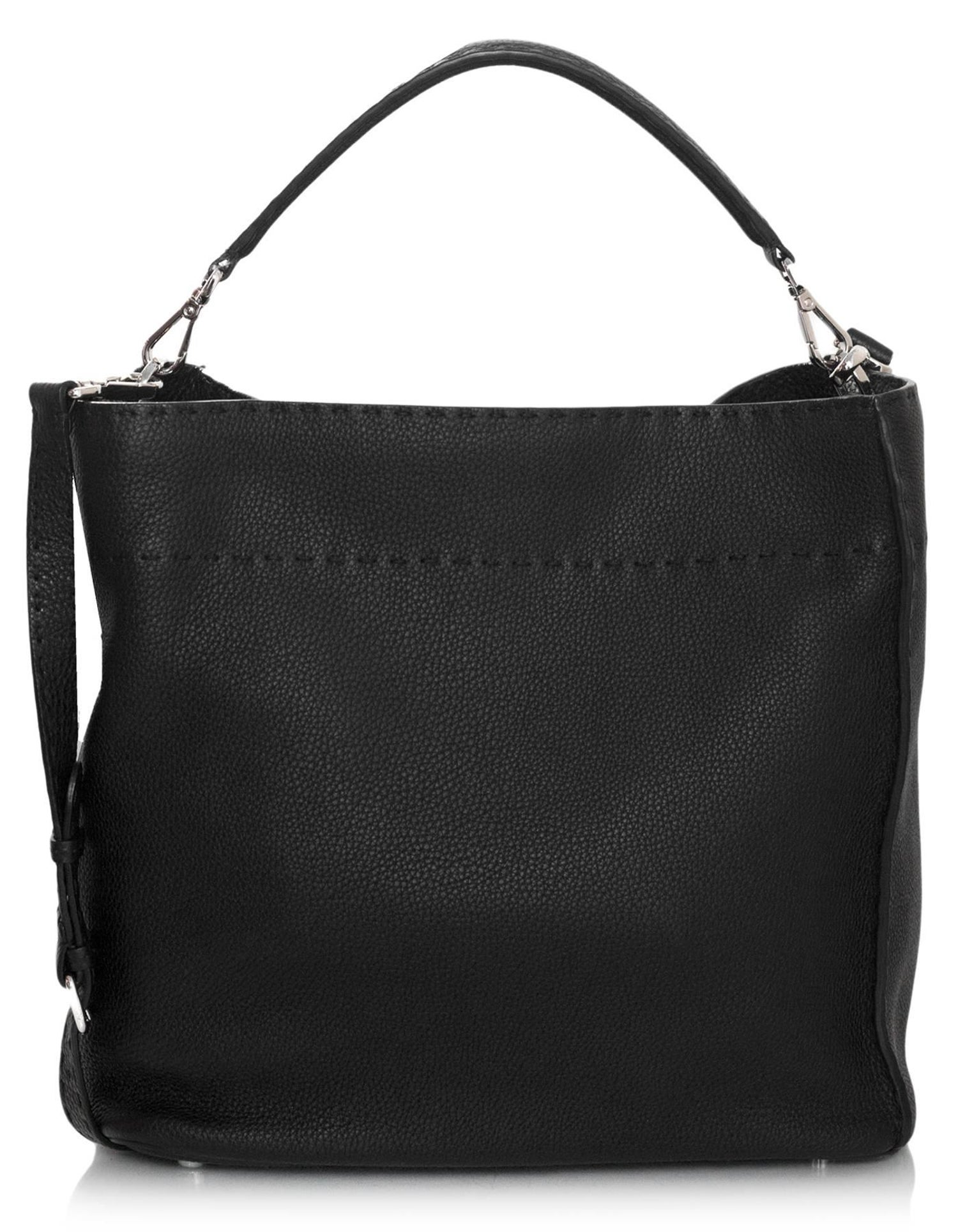 8e02780b8a Fendi Black Selleria Leather Anna Hobo Bag For Sale at 1stdibs