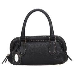 Fendi Black Selleria Leather Handbag