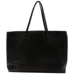 Fendi Black Selleria Leather Tote Bag 39.5cm