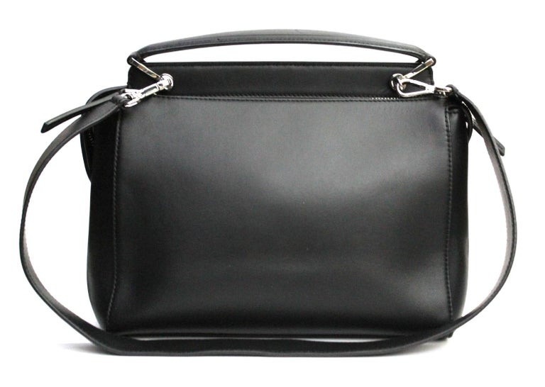 3bf7cfeac8ce00 FENDI Black Smooth Calfskin Leather Dotcom Satchel Bag In Excellent  Condition For Sale In Torre Del