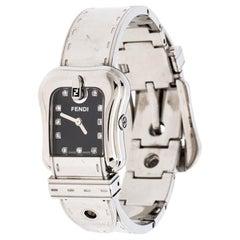Fendi Black Stainless Steel B.Fendi 3800L Women's Wristwatch 23MM