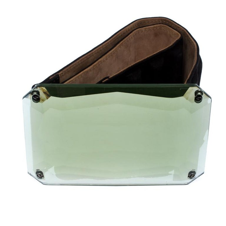 Fendi Black Suede Wide Mirror Buckle Belt Size 75 In Good Condition For Sale In Dubai, Al Qouz 2