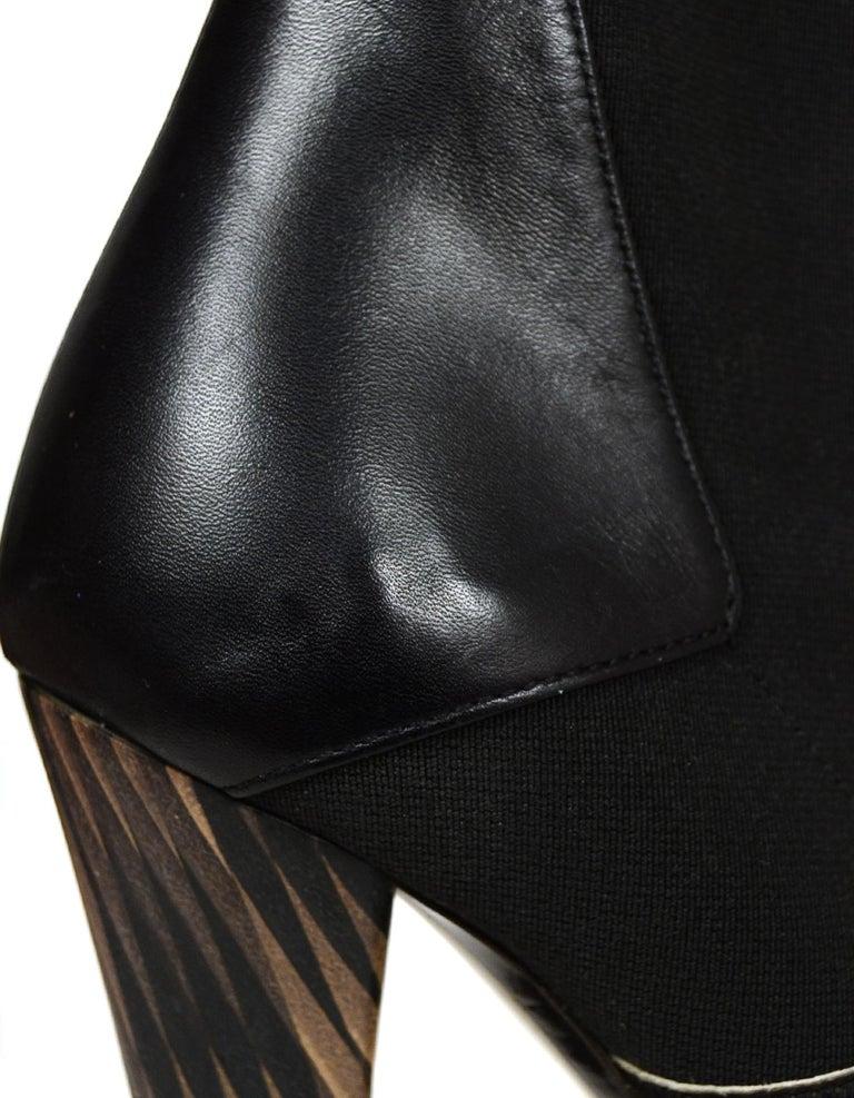 Fendi Black/White Calf Hair Bootie sz 37.5 7