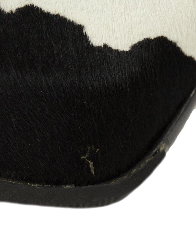 Fendi Black/White Calf Hair Bootie sz 37.5 3