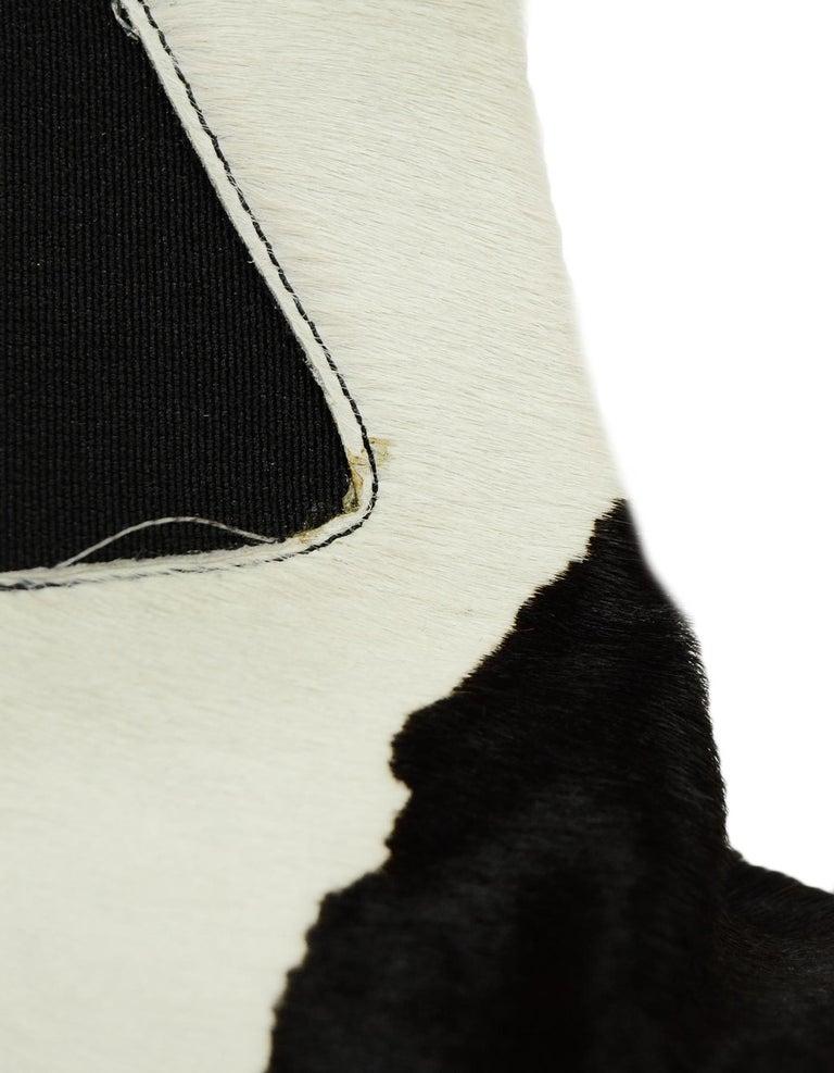 Fendi Black/White Calf Hair Bootie sz 37.5 4