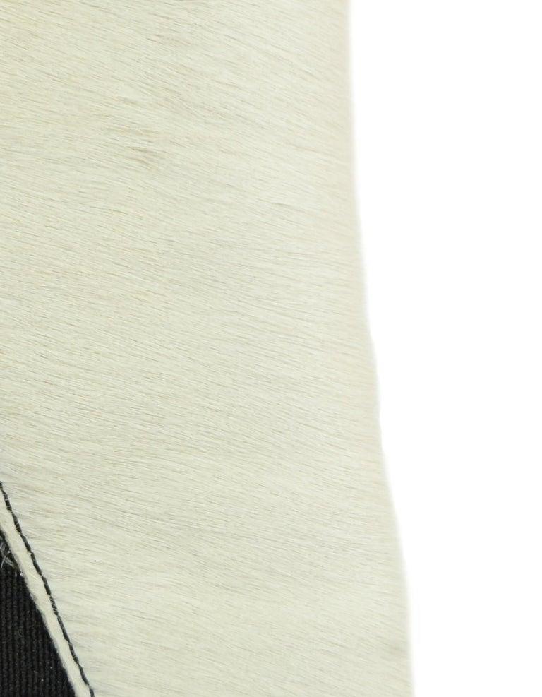 Fendi Black/White Calf Hair Bootie sz 37.5 5