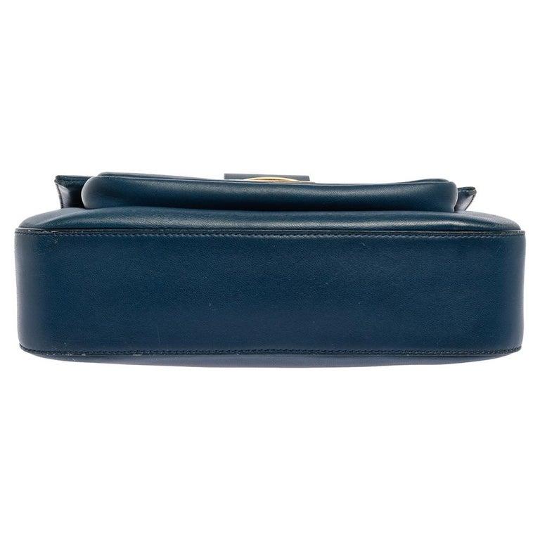 Fendi Blue Leather Be Baguette Shoulder Bag For Sale 1