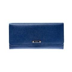 Fendi Blue Leather Elite Continental Wallet