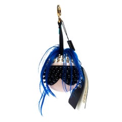 Fendi Blue Leather Punkito Bag Charm