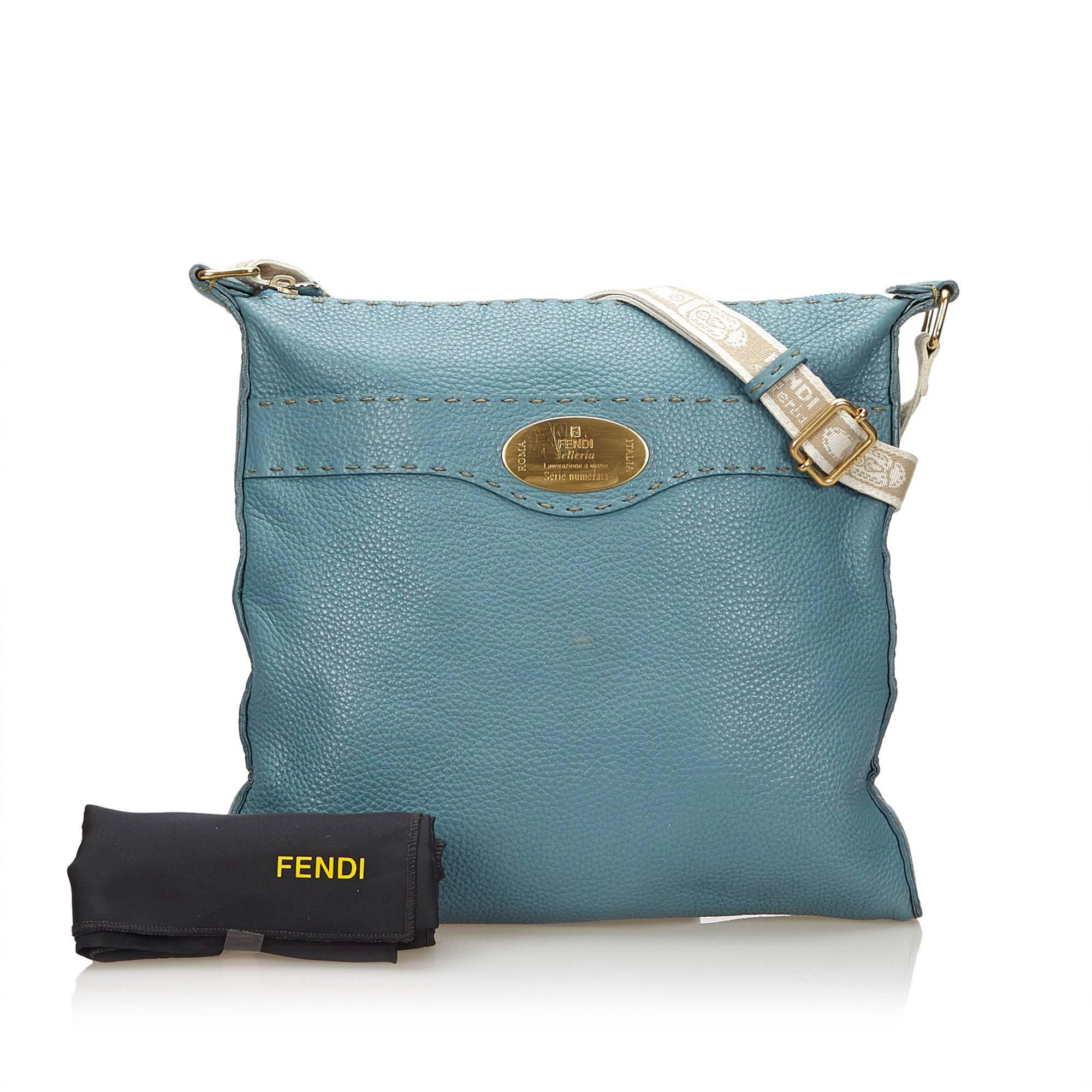 2a2914f219 ... coupon code for fendi blue selleria crossbody bag for sale 5 2fd9c  4fb0f ...