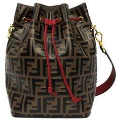 Fendi Brawn Leather Bag