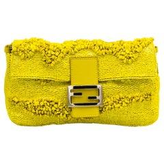 Fendi Bright Yellow Clutch Handbag
