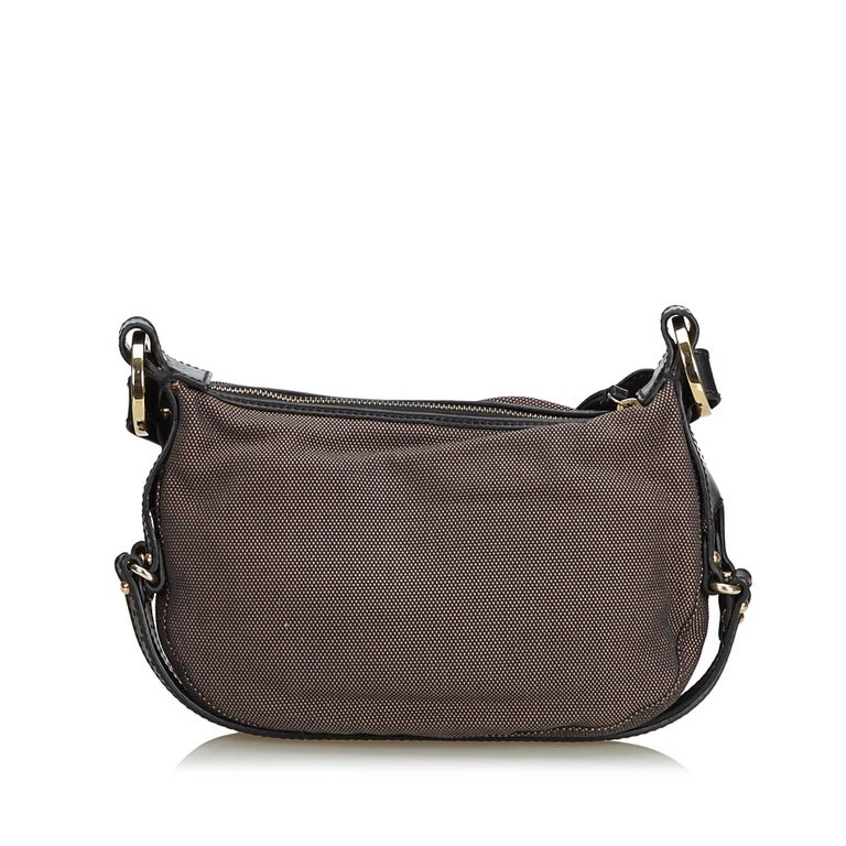 7c4a39ed0e31 Fendi Brown Canvas Crossbody Bag For Sale at 1stdibs