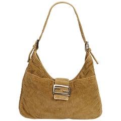 f6d0a19eb11 Fendi Brown Corduroy Mamma Baguette. HomeFashionHandbags and PursesShoulder  Bags. Fendi Claudia Shoulder Bag Pequin Embossed Leather Large ...