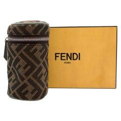 Fendi Brown FF Monogram Canvas Thermic Bag Charm