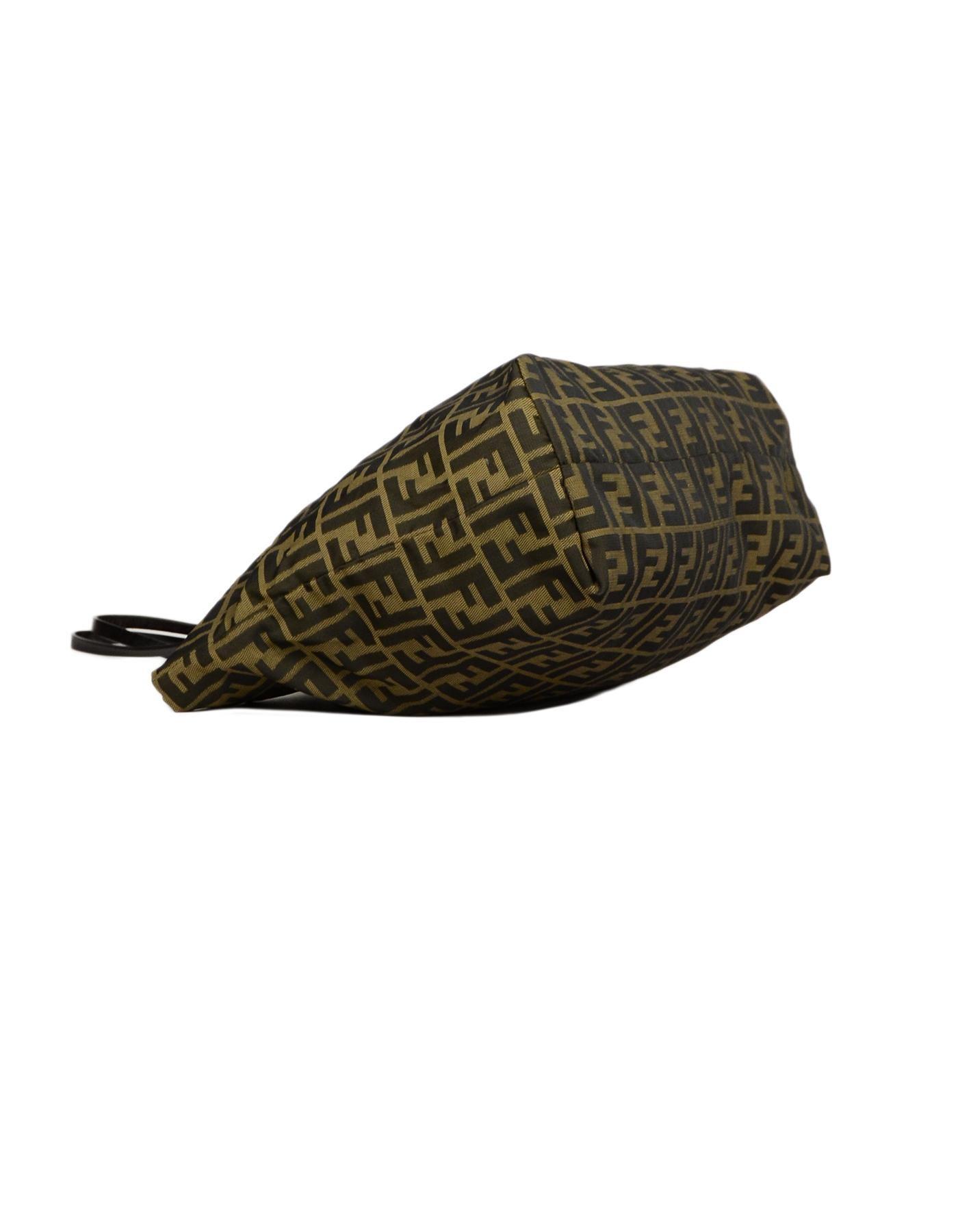 dcfde5e095e Fendi Brown FF Monogram Canvas Zucca Tote Bag For Sale at 1stdibs