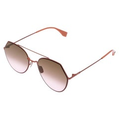 Fendi Brown Gradient FF 0194/S Aviator Sunglasses