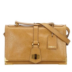 Fendi Brown Leather Classico No. 1 Satchel