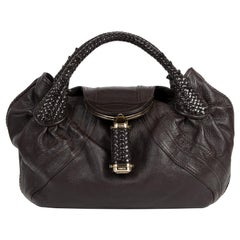 Fendi Brown Leather Hobo Spy Bag
