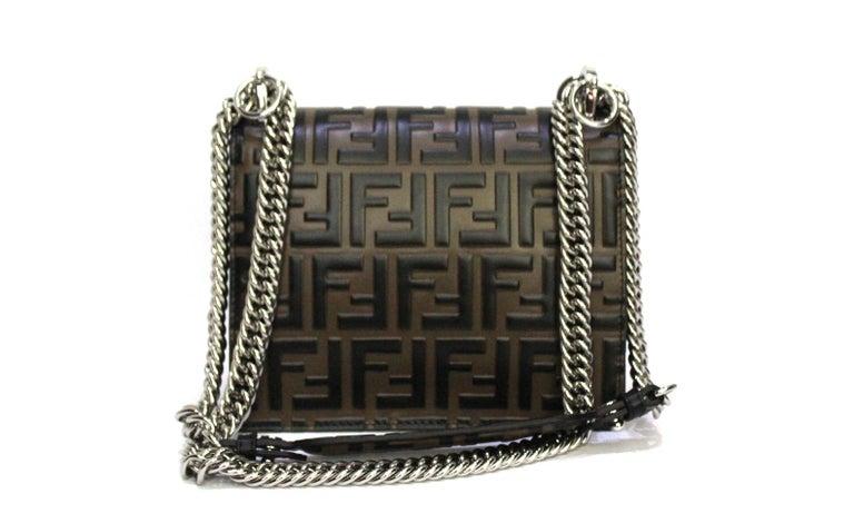 Black Fendi Brown Leather Kan I Bag