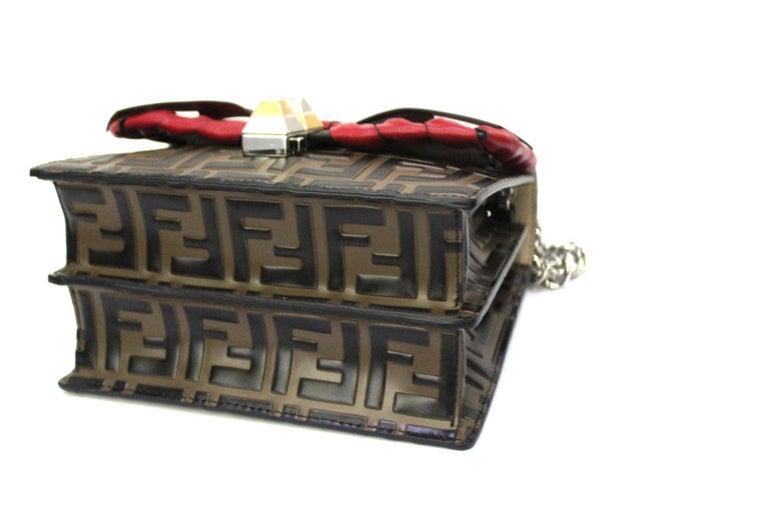 Women's Fendi Brown Leather Kan I Bag