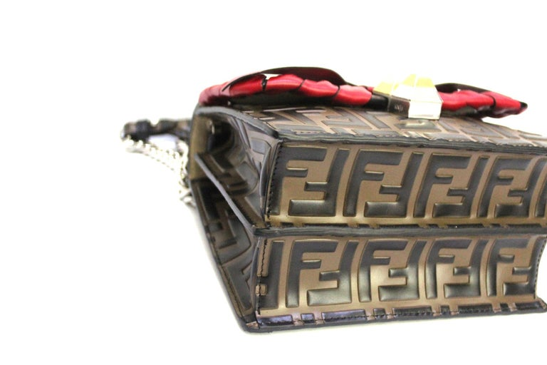 Fendi Brown Leather Kan I Bag 1