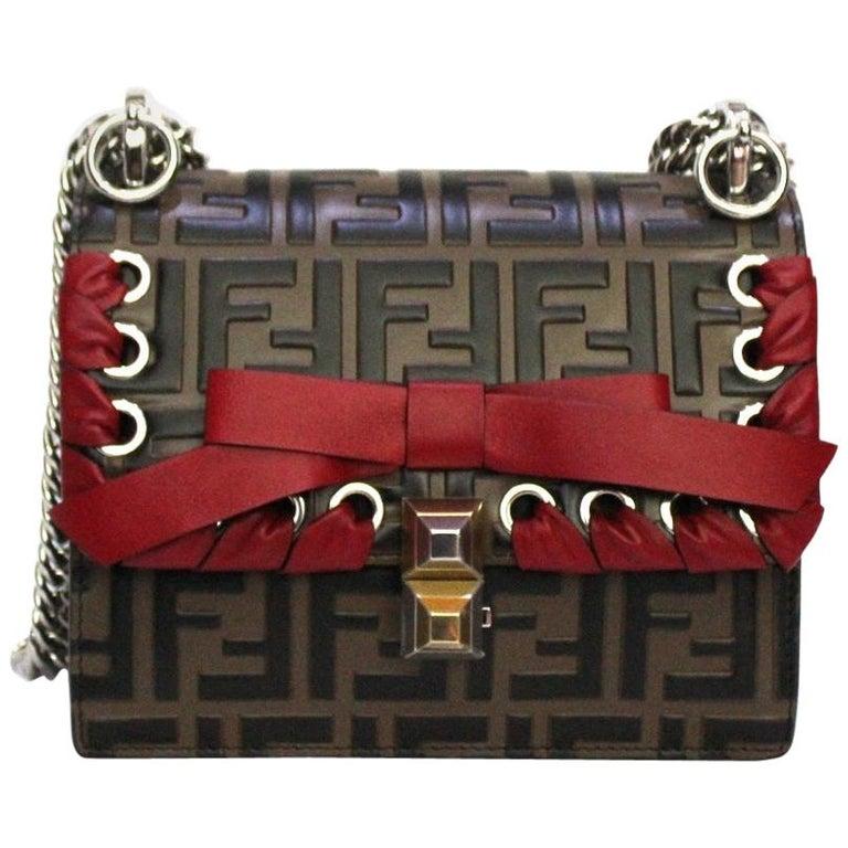 Fendi Brown Leather Kan I Bag