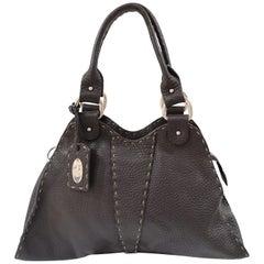 Fendi Brown Leather Selleria Sporty Shoulder Bag