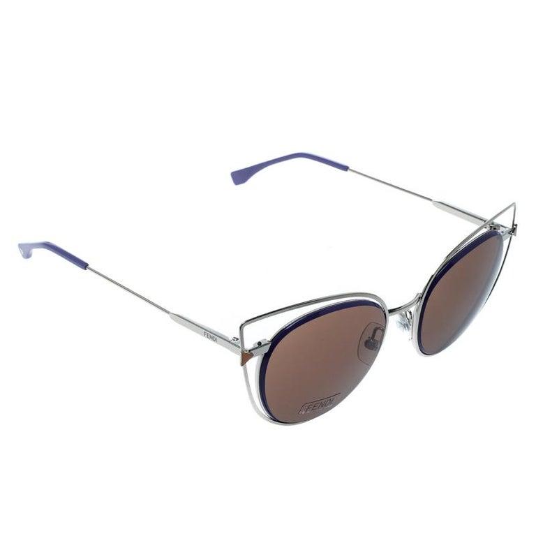 445e8cc251 Fendi Brown Lilac FF 0176 S Cat Eye Sunglasses at 1stdibs