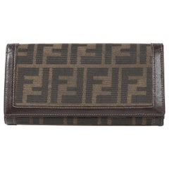 Fendi Brown Monogram Canvas Wallet