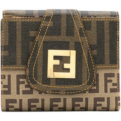 Fendi Brown Monogram Mini Wallet
