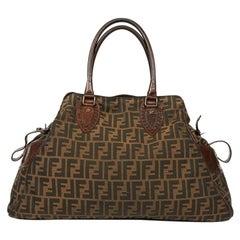 Fendi Brown Monogram Tote Bag
