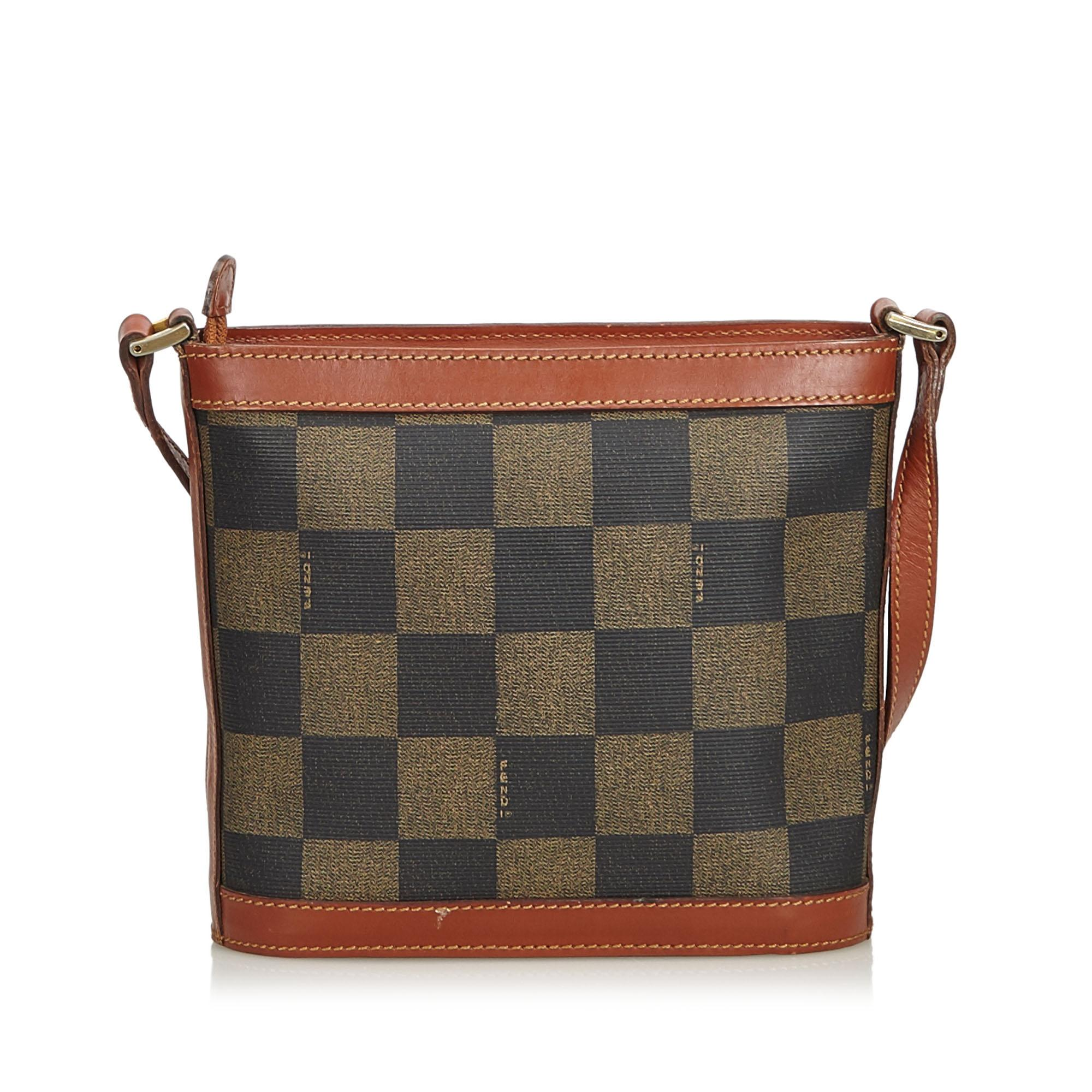 375ba23109 Fendi Brown Pequin Crossbody Bag at 1stdibs
