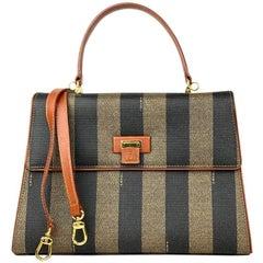 Fendi Brown Pequin Crossbody bag
