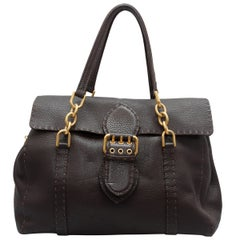 Fendi Brown Selleria Leather Shoulder Bag