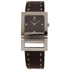 Fendi Brown Stainless Steel Classic Women's Wristwatch 26MM