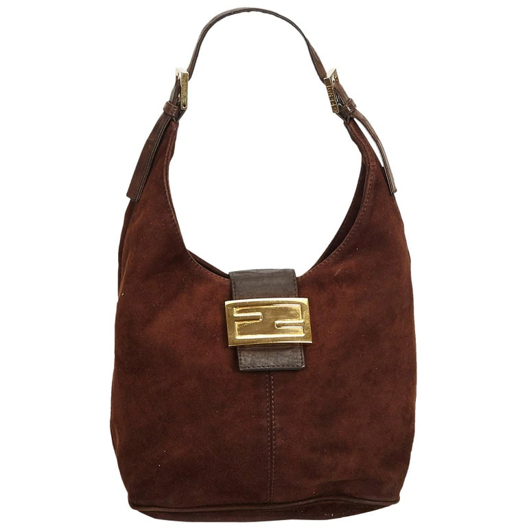 edc18c5a2e56 Fendi Brown Suede Hobo Bag For Sale at 1stdibs