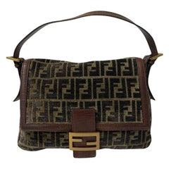 Fendi Brown Suede Mama Shoulder Bag