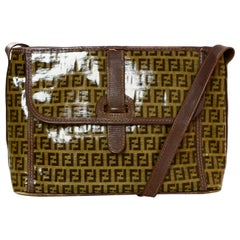 Fendi Brown Vintage Monogram Coated Canvas Messenger Bag